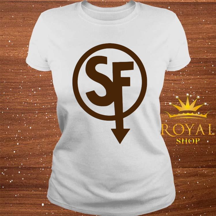 Larry Face Sanity's Fall Larry Shirt ladies-tee