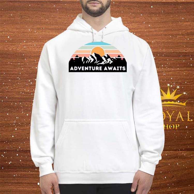 Nice Adventure Awaits Mountain Retro Shirt hoodie