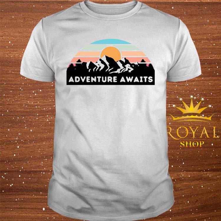 Nice Adventure Awaits Mountain Retro Shirt