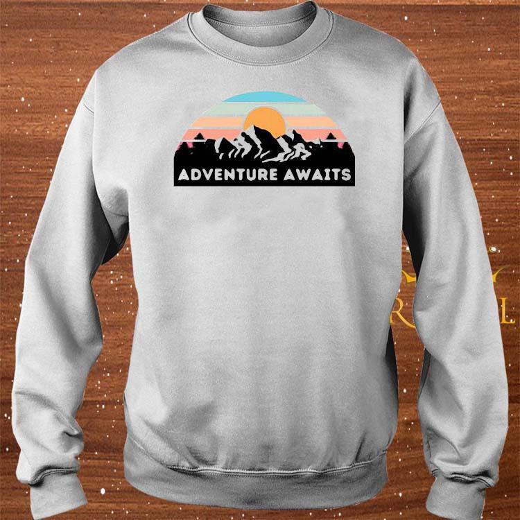 Nice Adventure Awaits Mountain Retro Shirt sweater