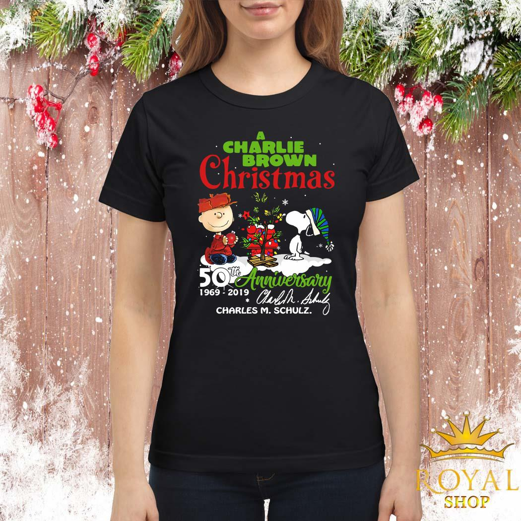 A Charlie Brown Christmas 50th Anniversary 1969-2019 Signature ShirtA Charlie Brown Christmas 50th Anniversary 1969-2019 Signature Ladies Shirt