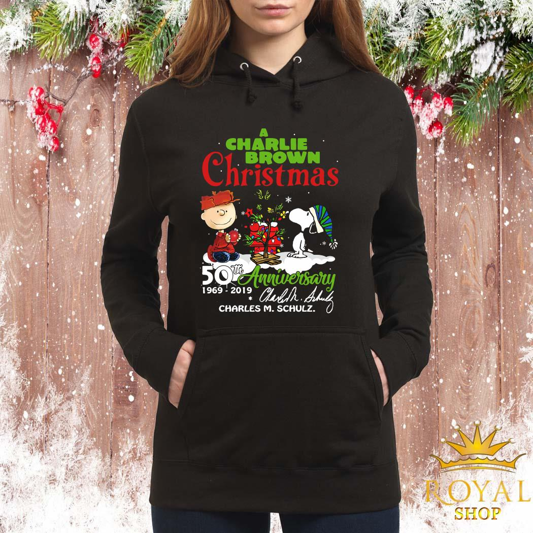 A Charlie Brown Christmas 50th Anniversary 1969-2019 Signature ShirtA Charlie Brown Christmas 50th Anniversary 1969-2019 Signature Women Hoodie