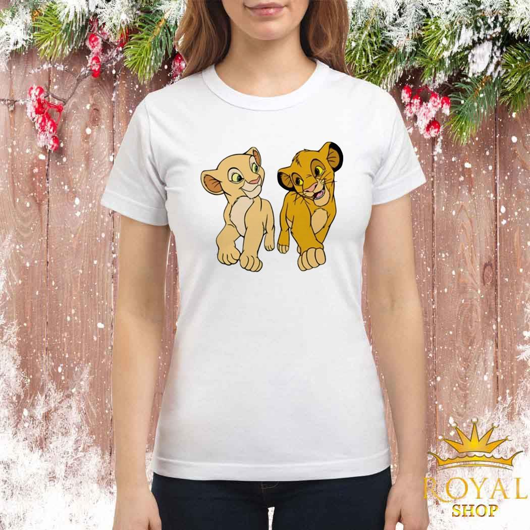 Disney The Lion King Young Simba and Nala Ladies Shirt