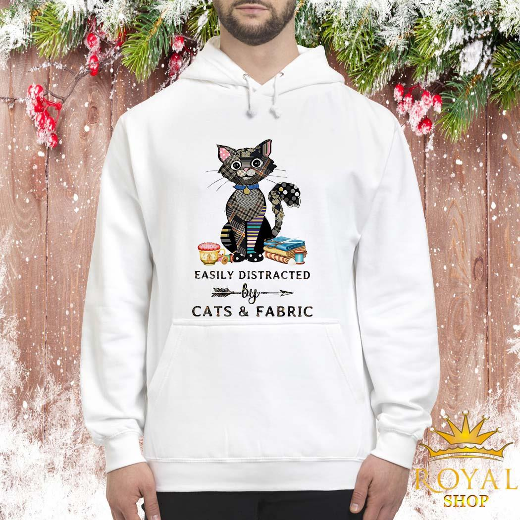 Easily Distracted By Cats And Fabric Unisex Hoodie
