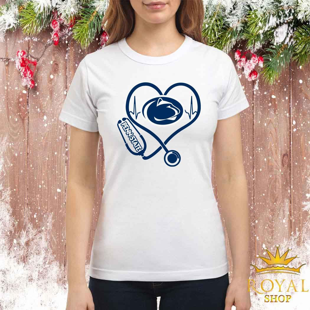 Heartbeat Nurse Love Penn State Ladies Shirt