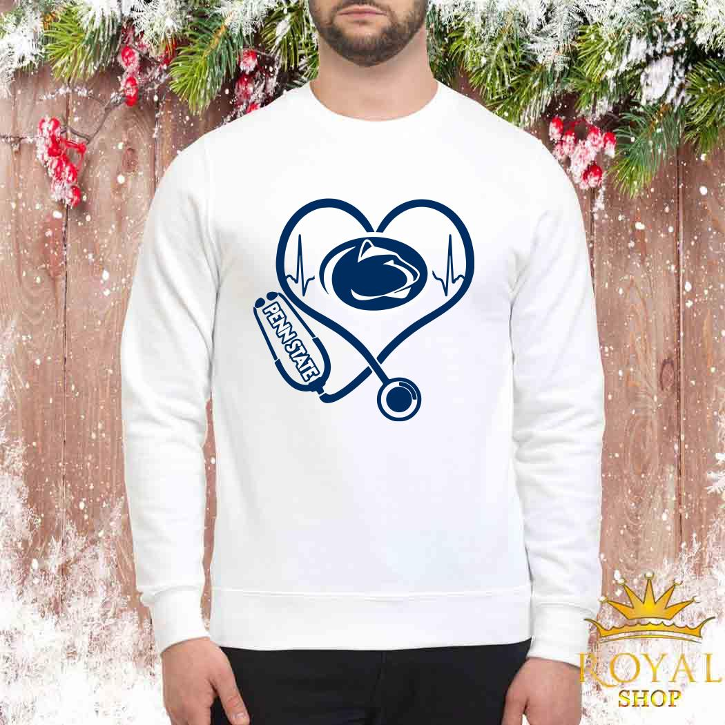 Heartbeat Nurse Love Penn State Sweater