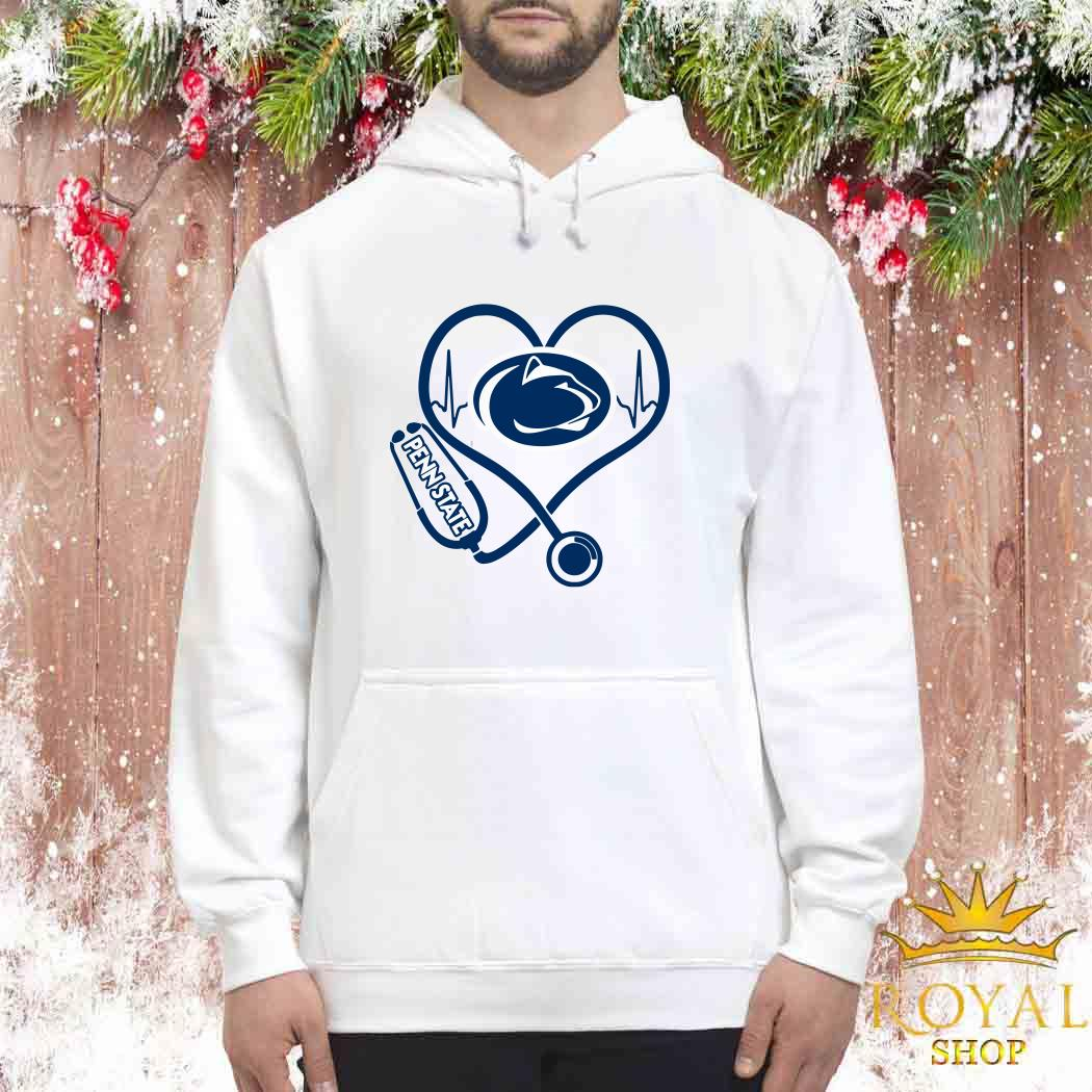 Heartbeat Nurse Love Penn State Unisex Hoodie