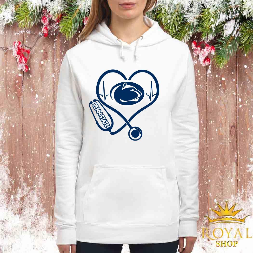 Heartbeat Nurse Love Penn State Women Hoodie