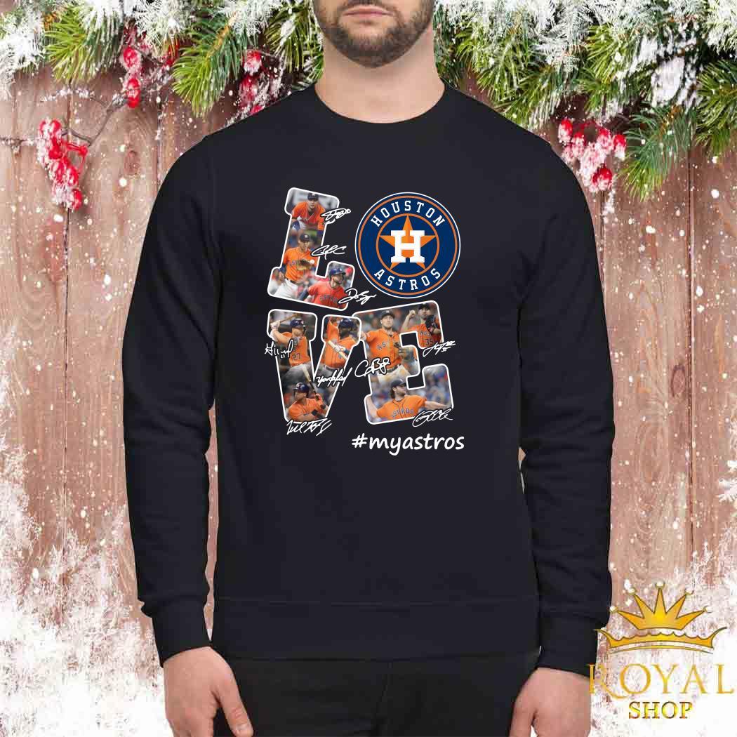 Love Houston Astros My Astros Signatures Sweater