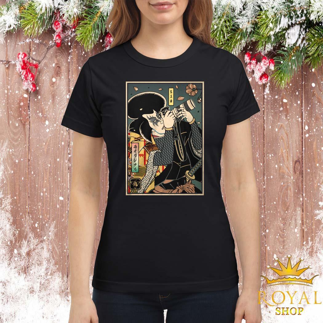 Samurai Photographer Ladies Shirt