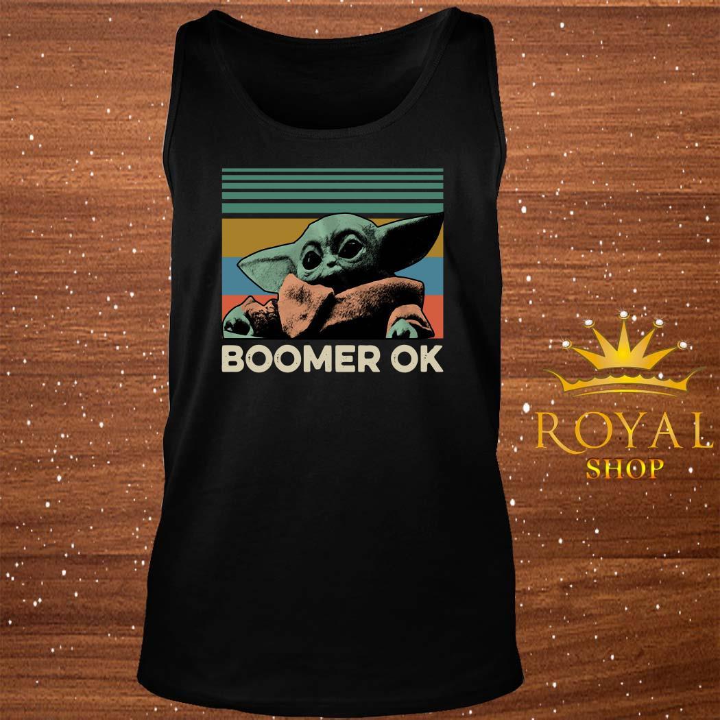 Baby Yoda Boomer Ok Vintage tank-top