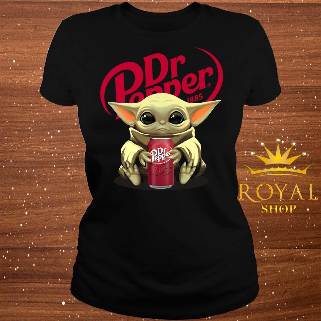 Baby Yoda Hug Dr Pepper ladies Tee