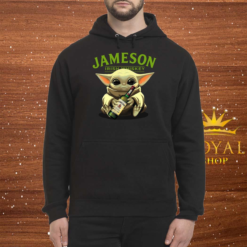 Baby Yoda Hug Jameson Irish Whiskey Unsiex Hoodie