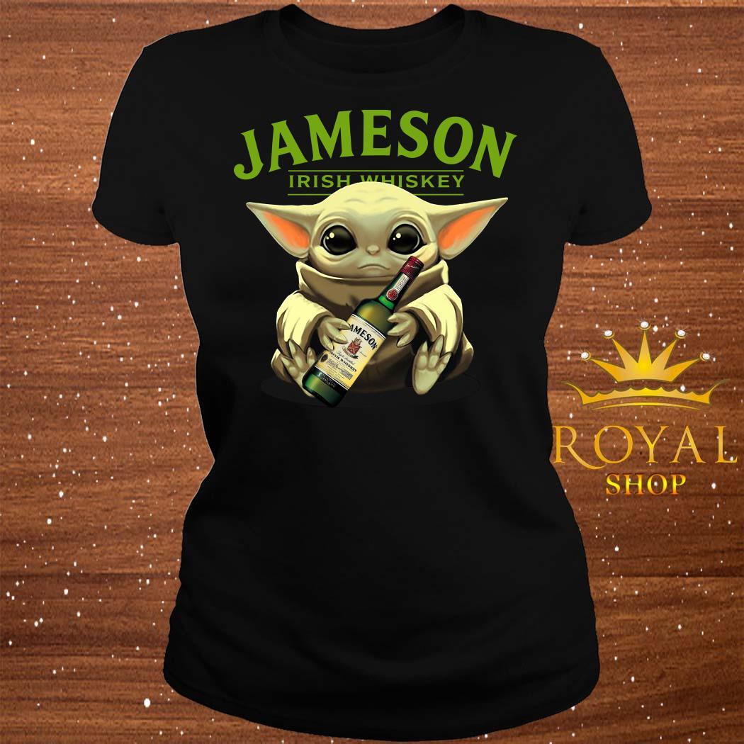 Baby Yoda Hug Jameson Irish Whiskey ladies Tee