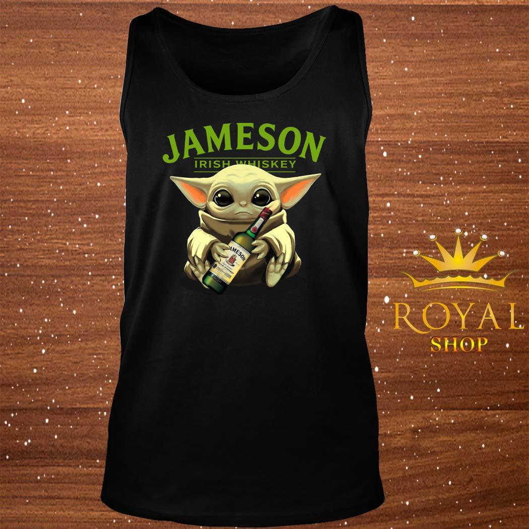Baby Yoda Hug Jameson Irish Whiskey tank-top