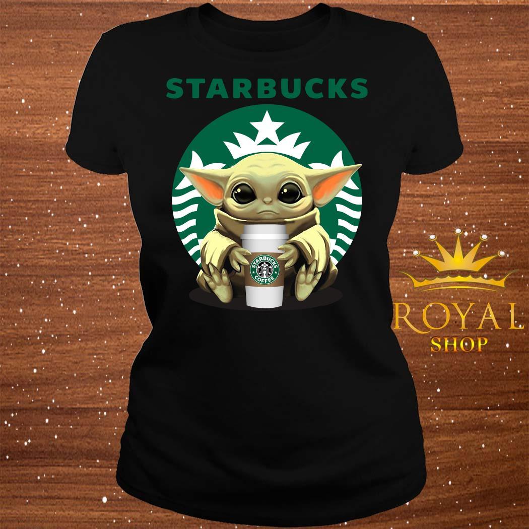 Baby Yoda Hug Starbucks ladies Tee