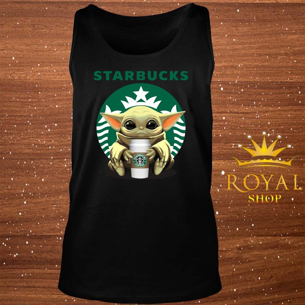 Baby Yoda Hug Starbucks tank-top