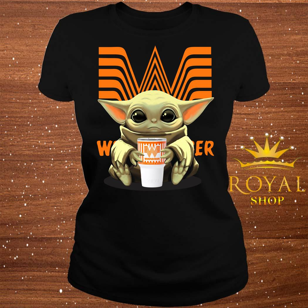 Baby Yoda Hug Whataburger ladies Tee