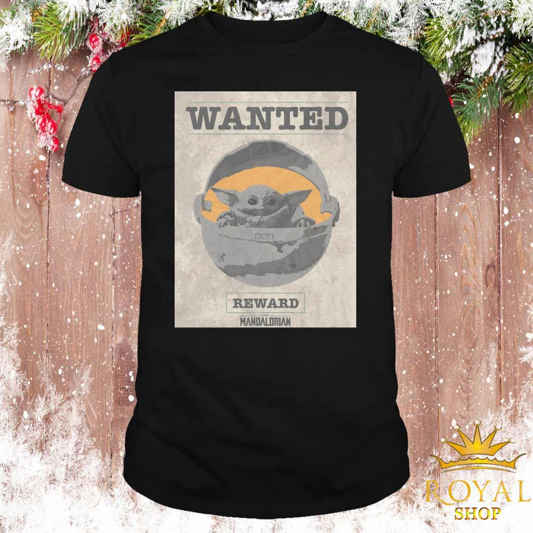 Baby Yoda Wanted Reward The Mandalorian Shirt, Sweater ...
