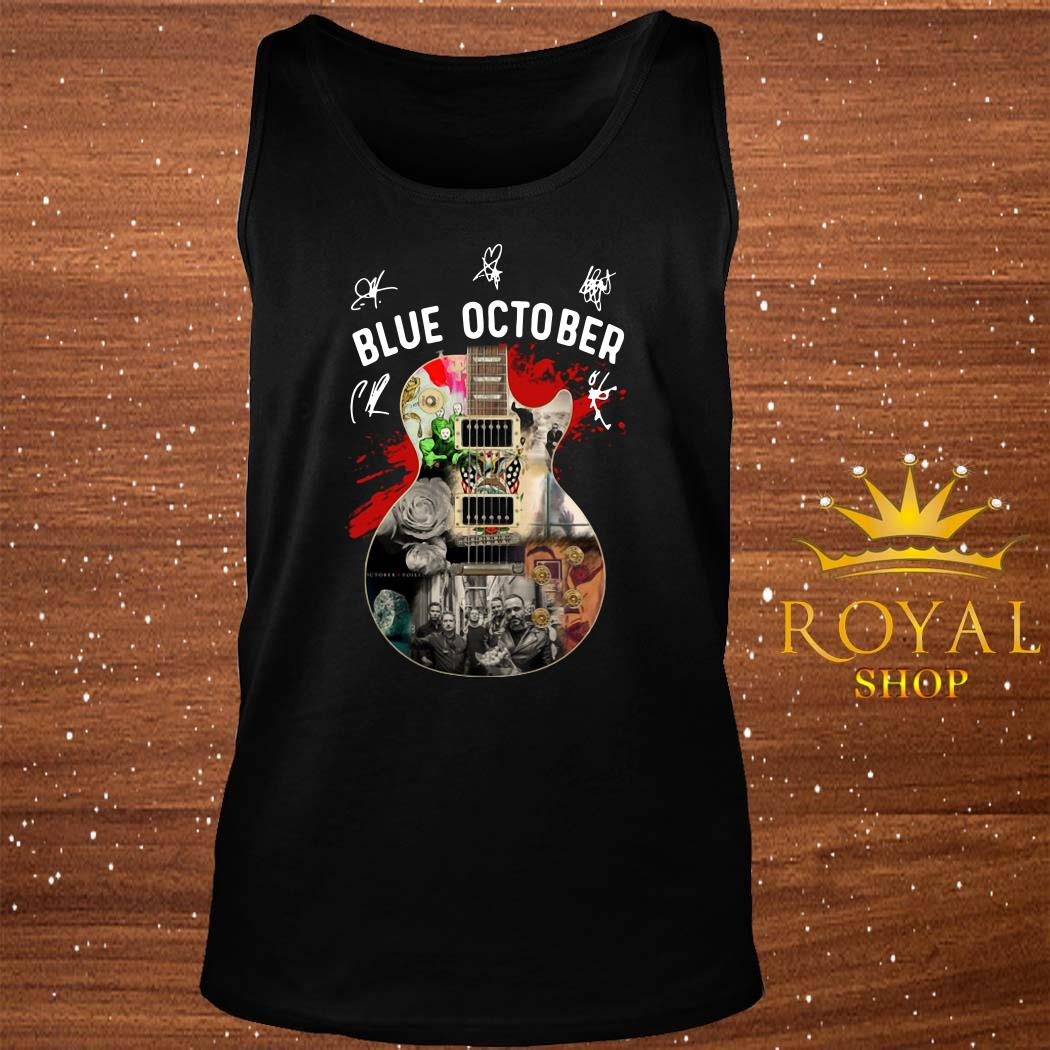Blue October Guitar Signatures tank-top