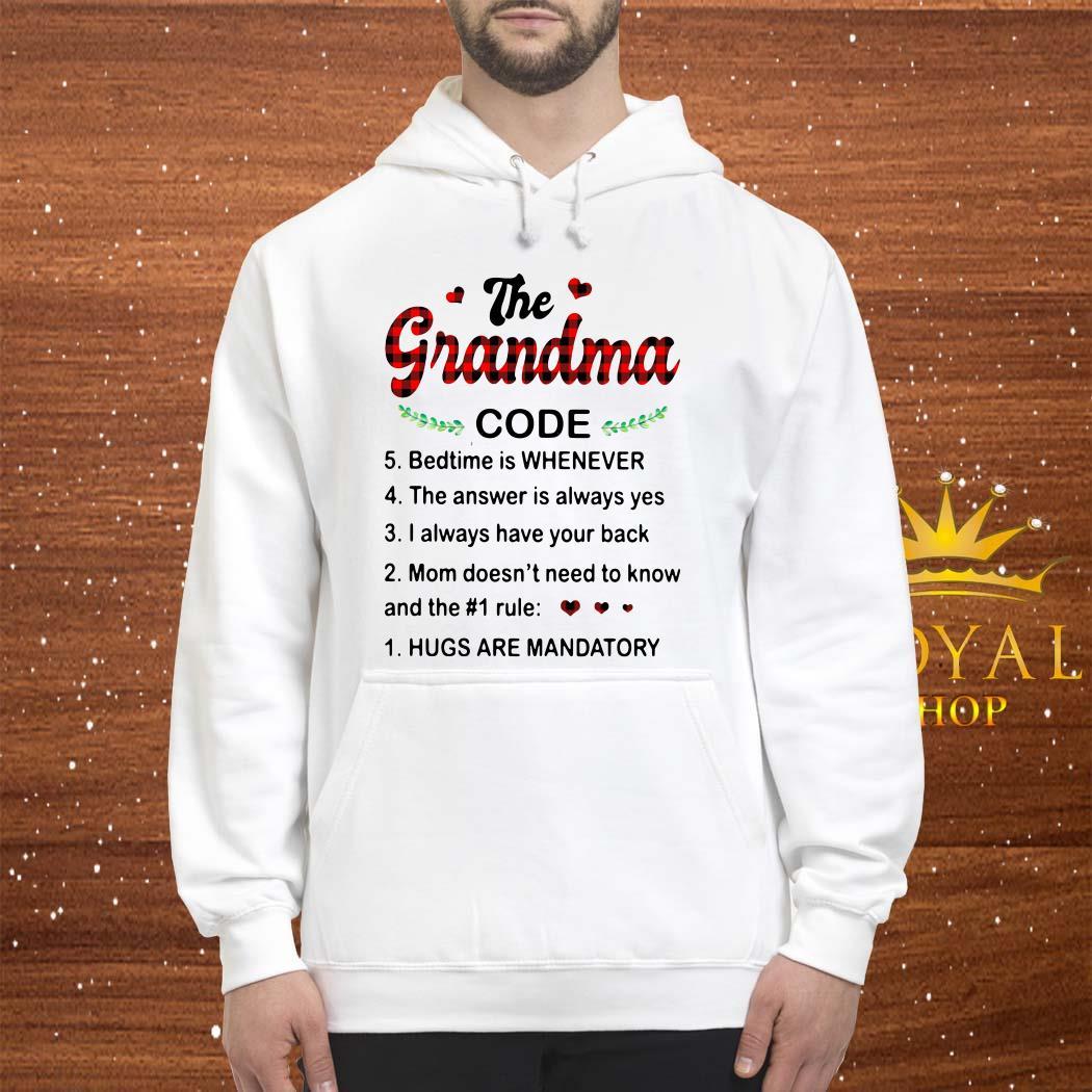 The Grandma Code Hugs Are Mandatory Unisex Hoodie