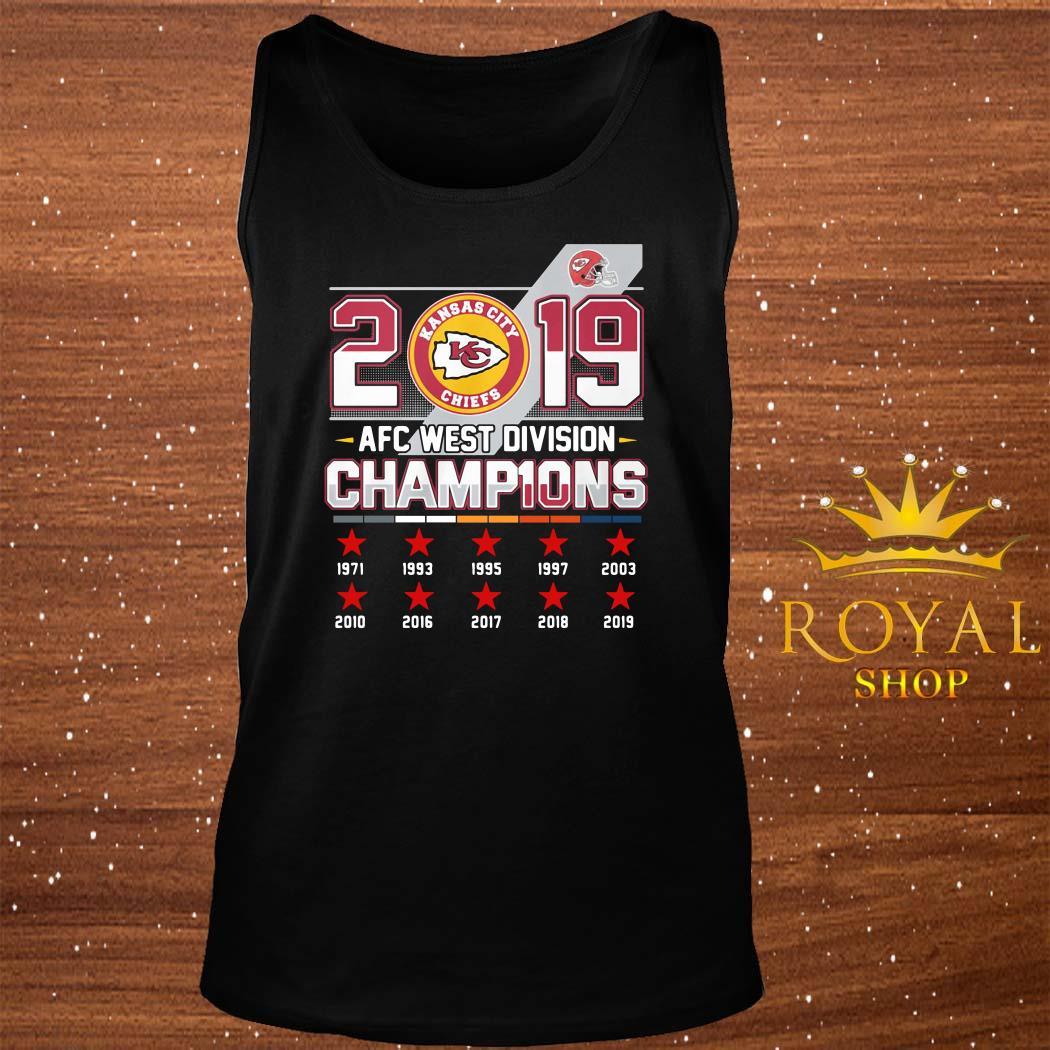 Kansas City Chiefs 2019 AFC West Division Champions tank-top