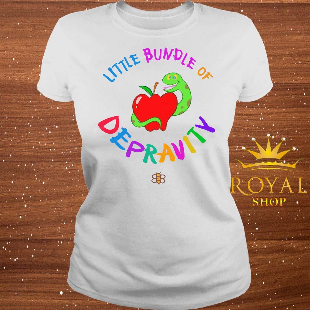 Little Bundle Of Depravity ladies Tee