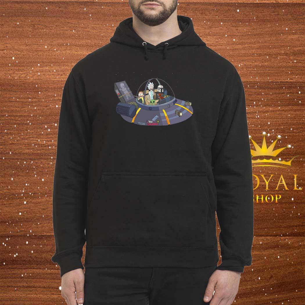 Rick And Morty Mandalorian Spaceship Unisex Hoodie