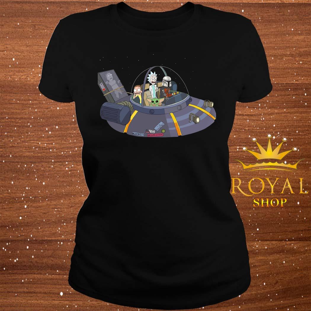 Rick And Morty Mandalorian Spaceship ladies Tee