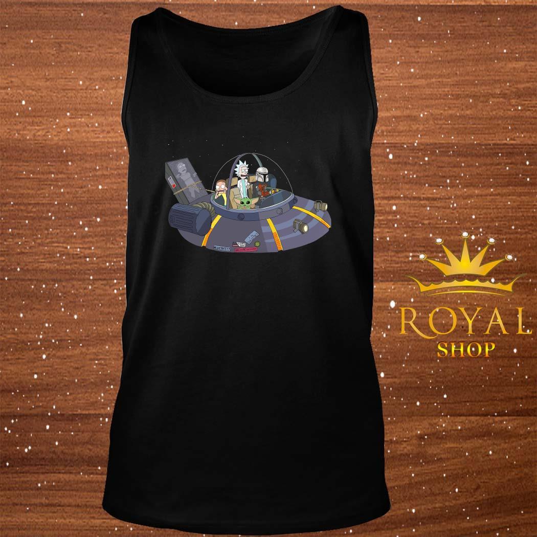 Rick And Morty Mandalorian Spaceship tank-top