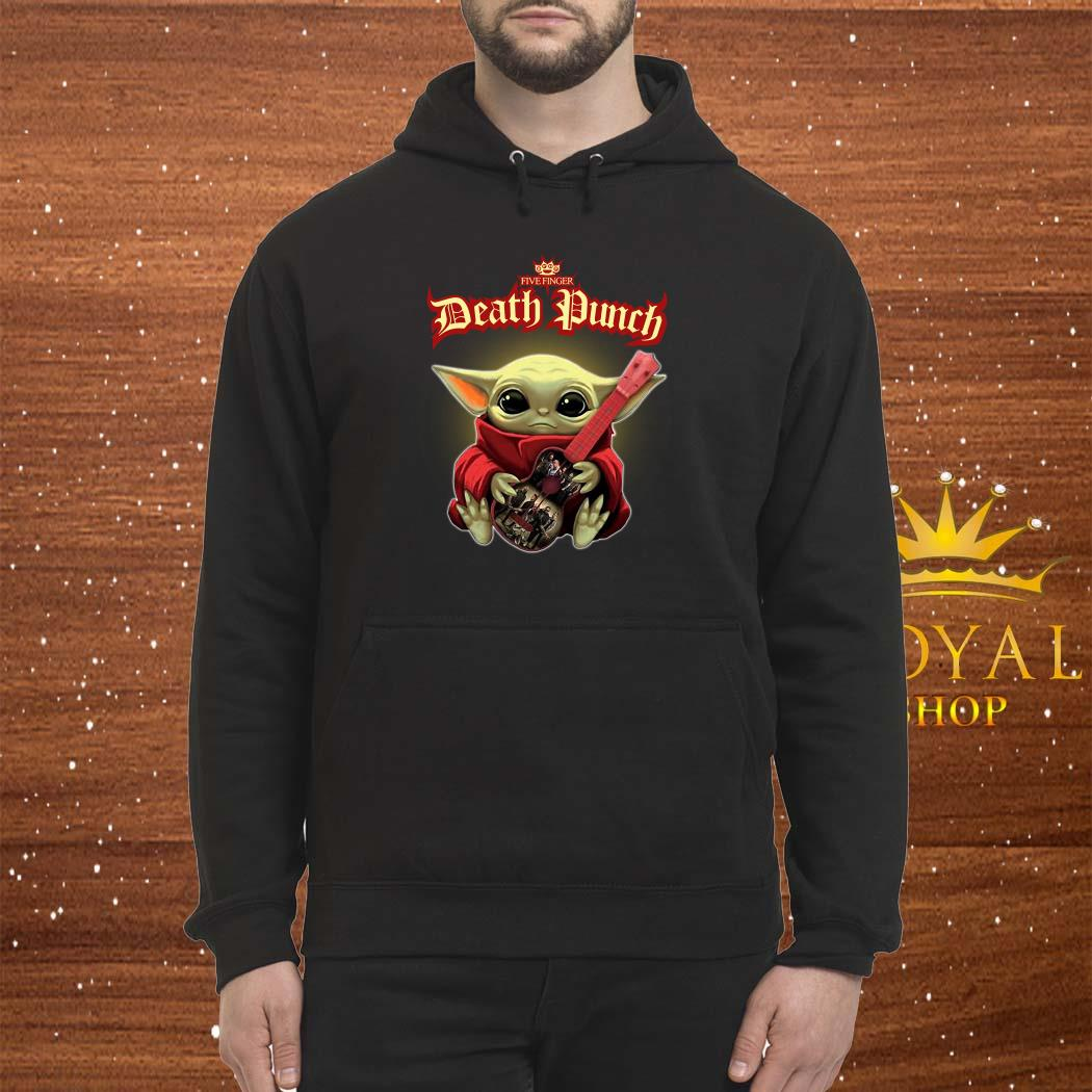 Baby Yoda Hug Five Finger Death Punch Guitar Hoodie