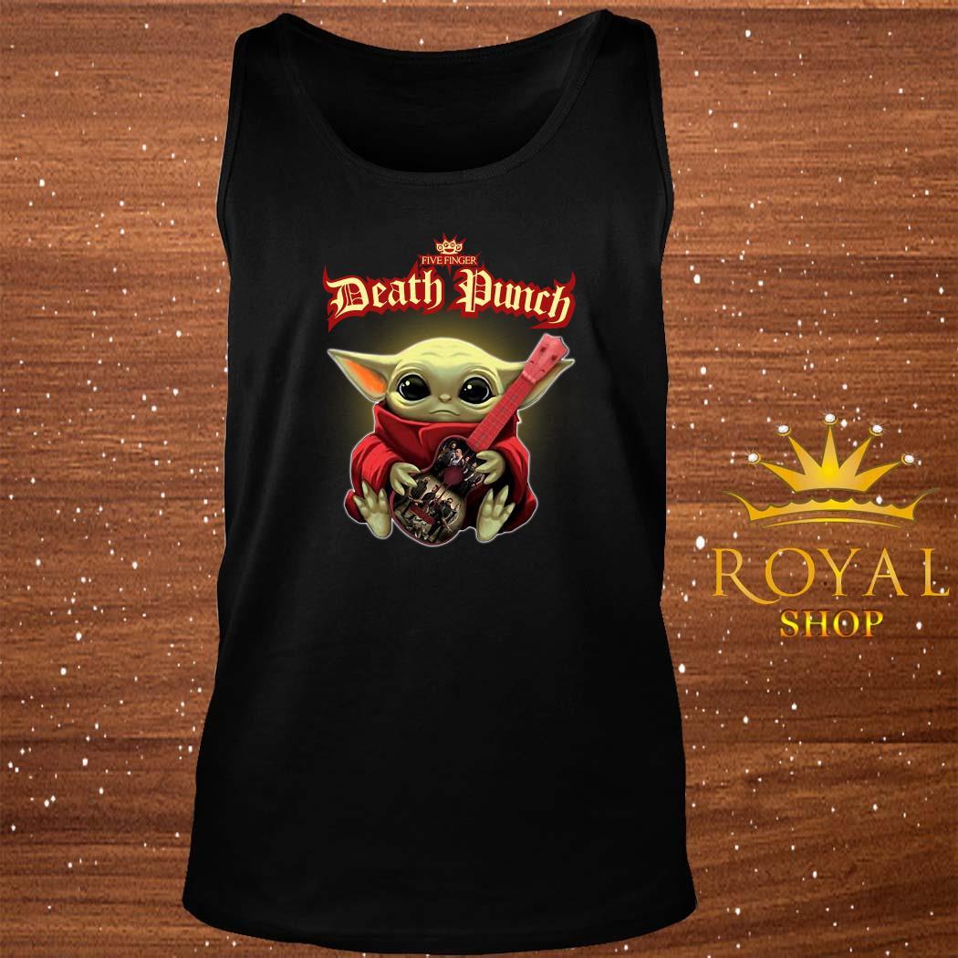 Baby Yoda Hug Five Finger Death Punch Guitar tank-top