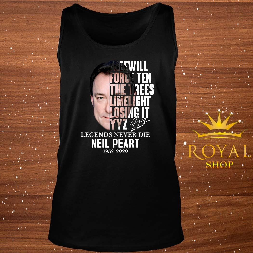 Neil Peart Freewill Force Ten The Trees Limelight Losing It YYZ tank-top