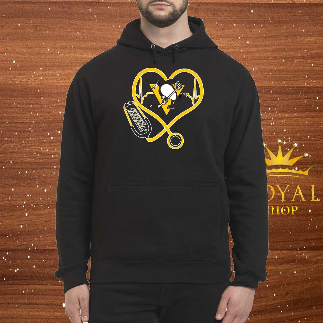 Heartbeat Nurse Love Pittsburgh Penguins Shirt Hoodie