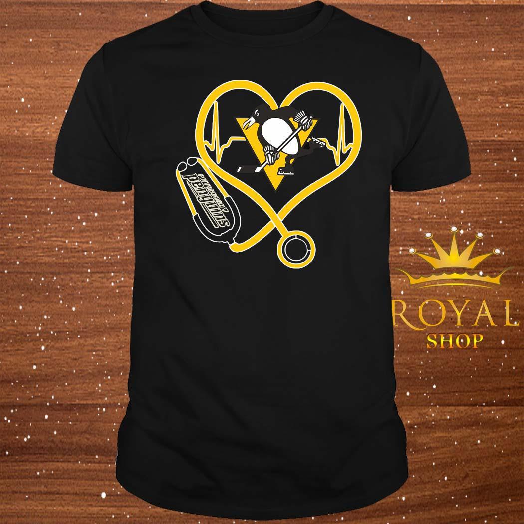 Heartbeat Nurse Love Pittsburgh Penguins Shirt