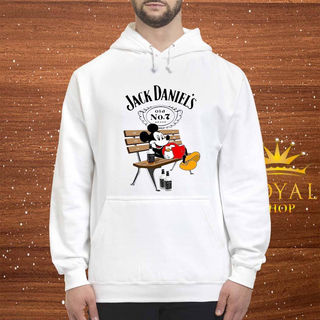 mickey mouse drinking jack daniels s hoodie