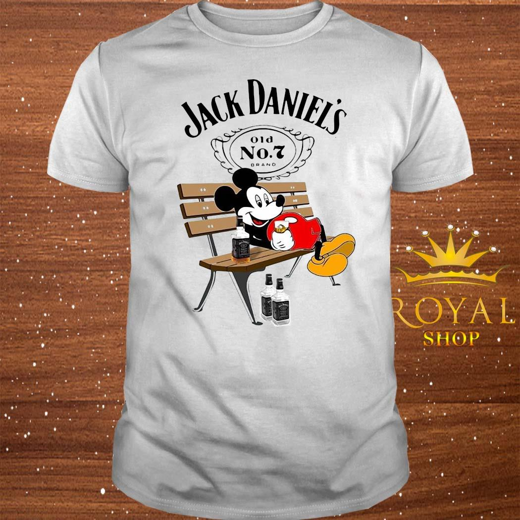 mickey mouse drinking jack daniels shirt