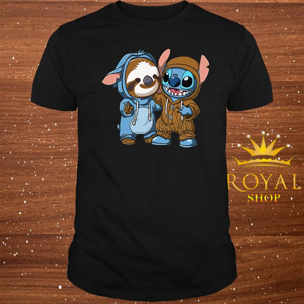 Baby Sloth And Baby Stitch Shirt