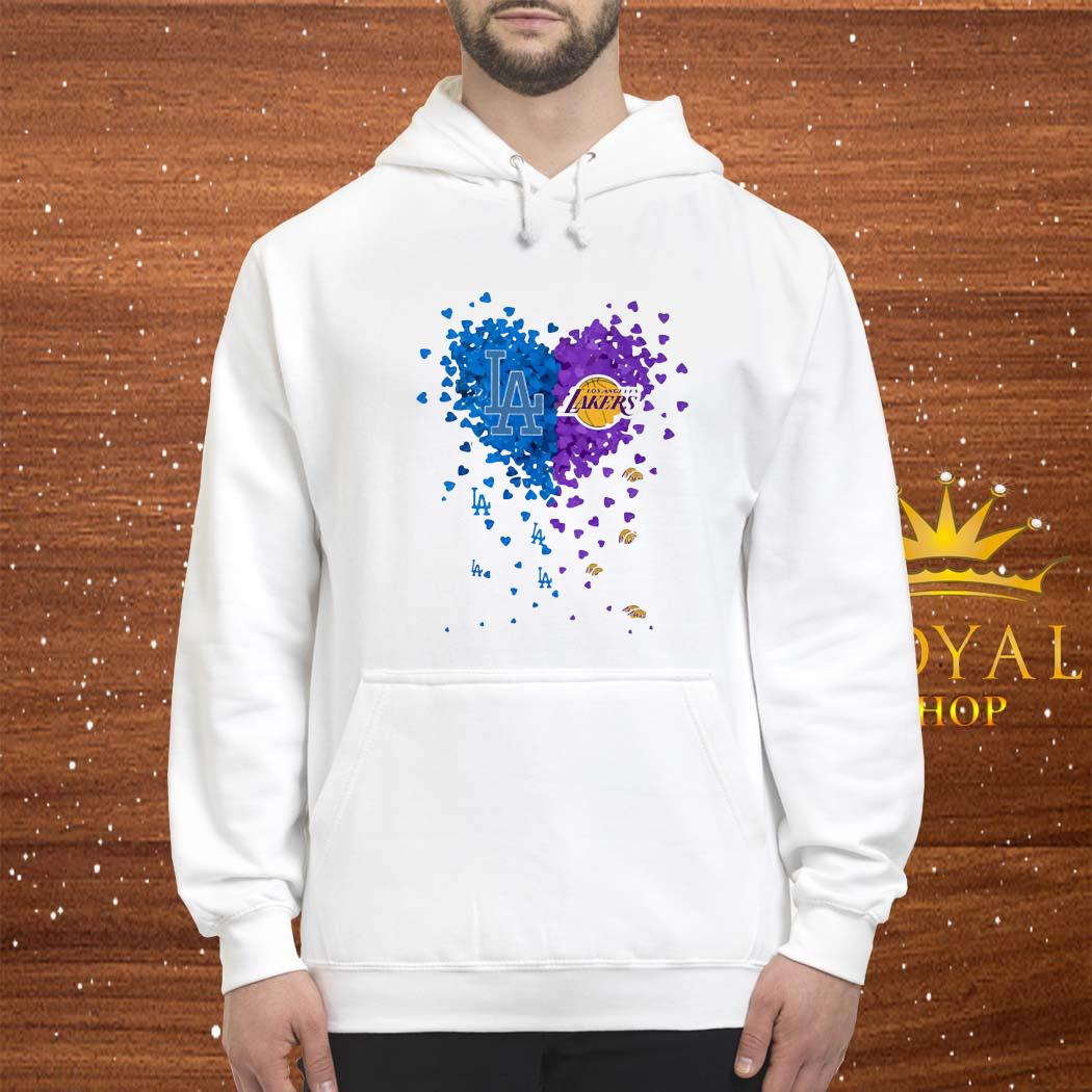Los Angeles Dodgers And Los Angeles Lakers Tiny Hearts Shape Shirt hoodie