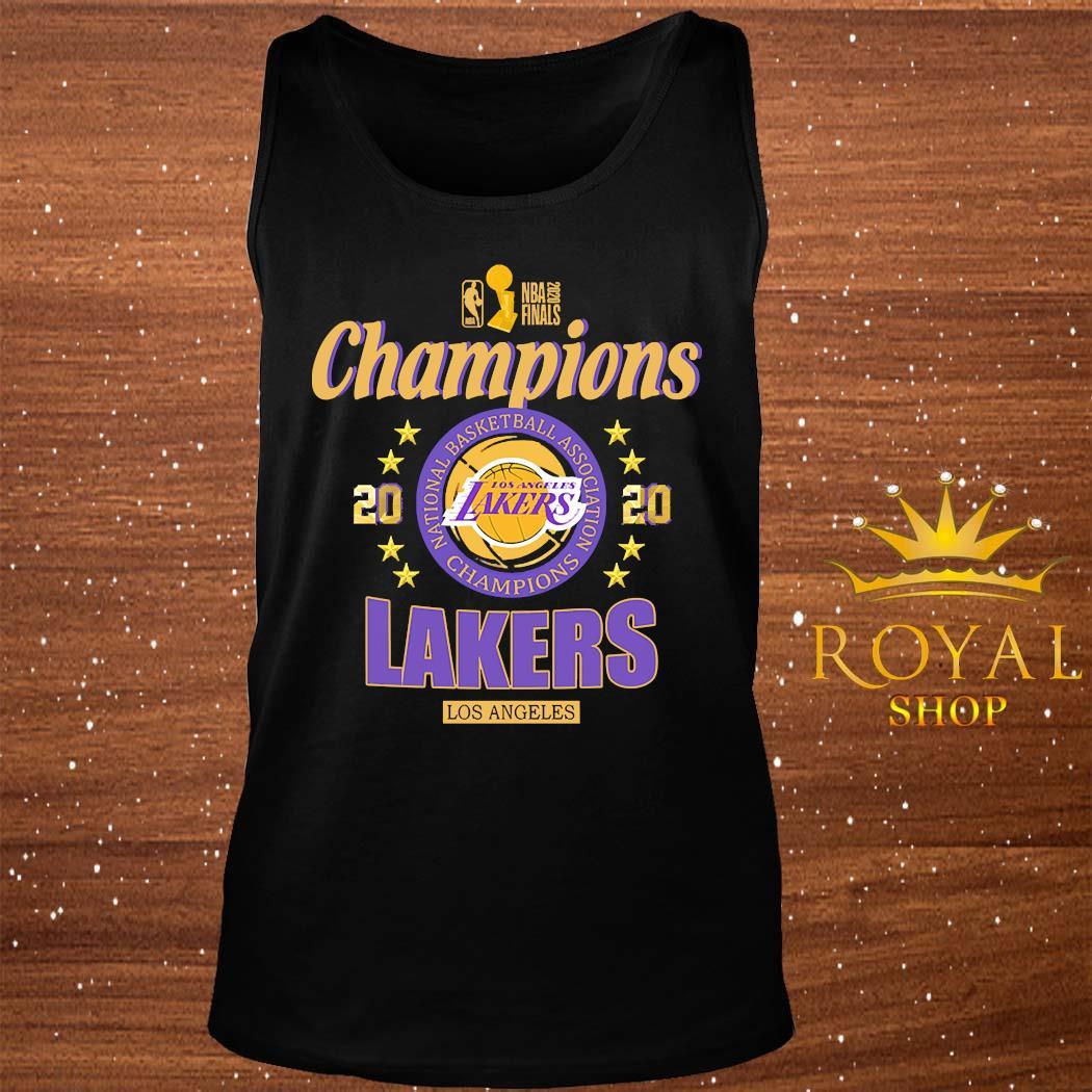 2020 Los Angeles Lakers National Basketball Association Champions Shirt tank-top