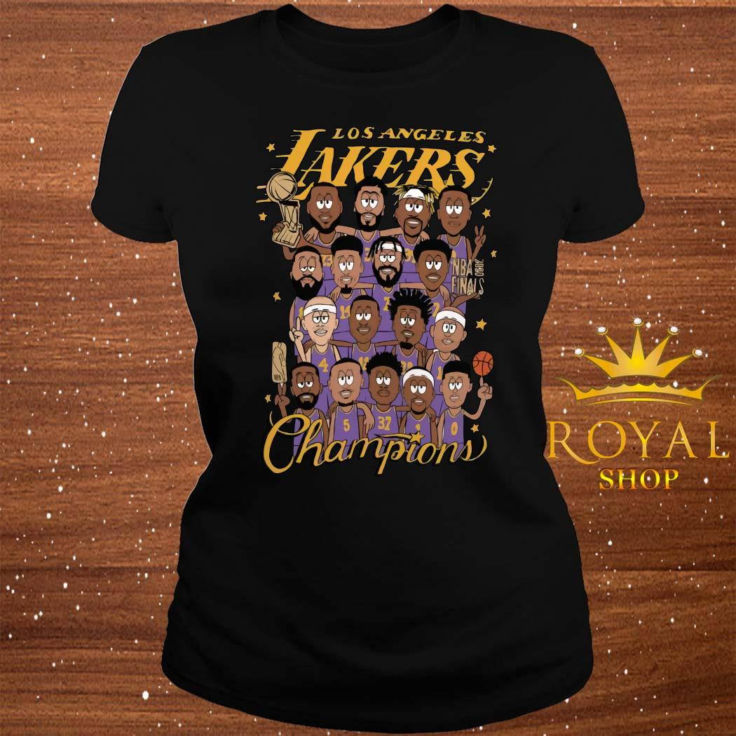 All Player Los Angeles Lakers Cartoon Champions Shirt ladies-tee