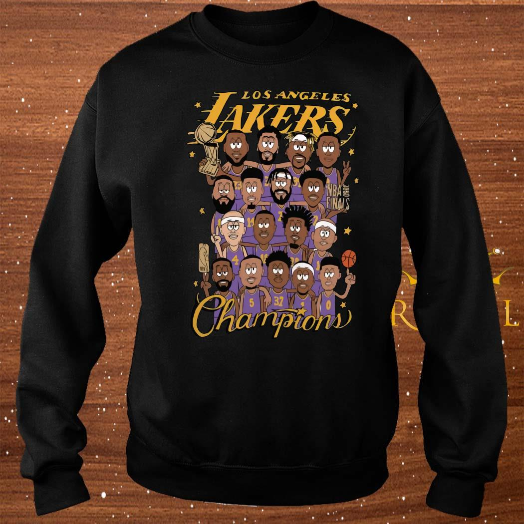 All Player Los Angeles Lakers Cartoon Champions Shirt sweater