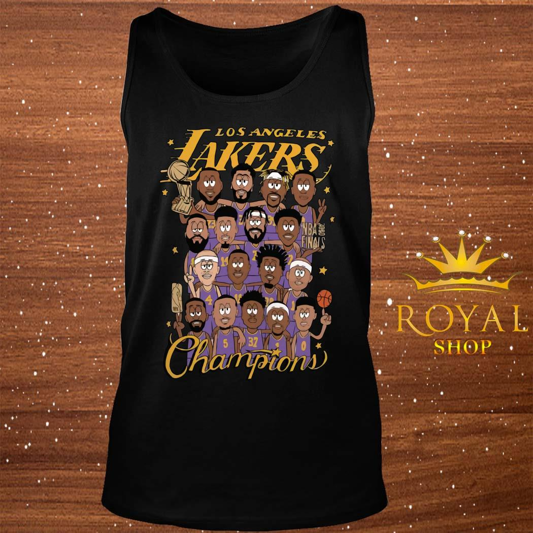 All Player Los Angeles Lakers Cartoon Champions Shirt tank-top