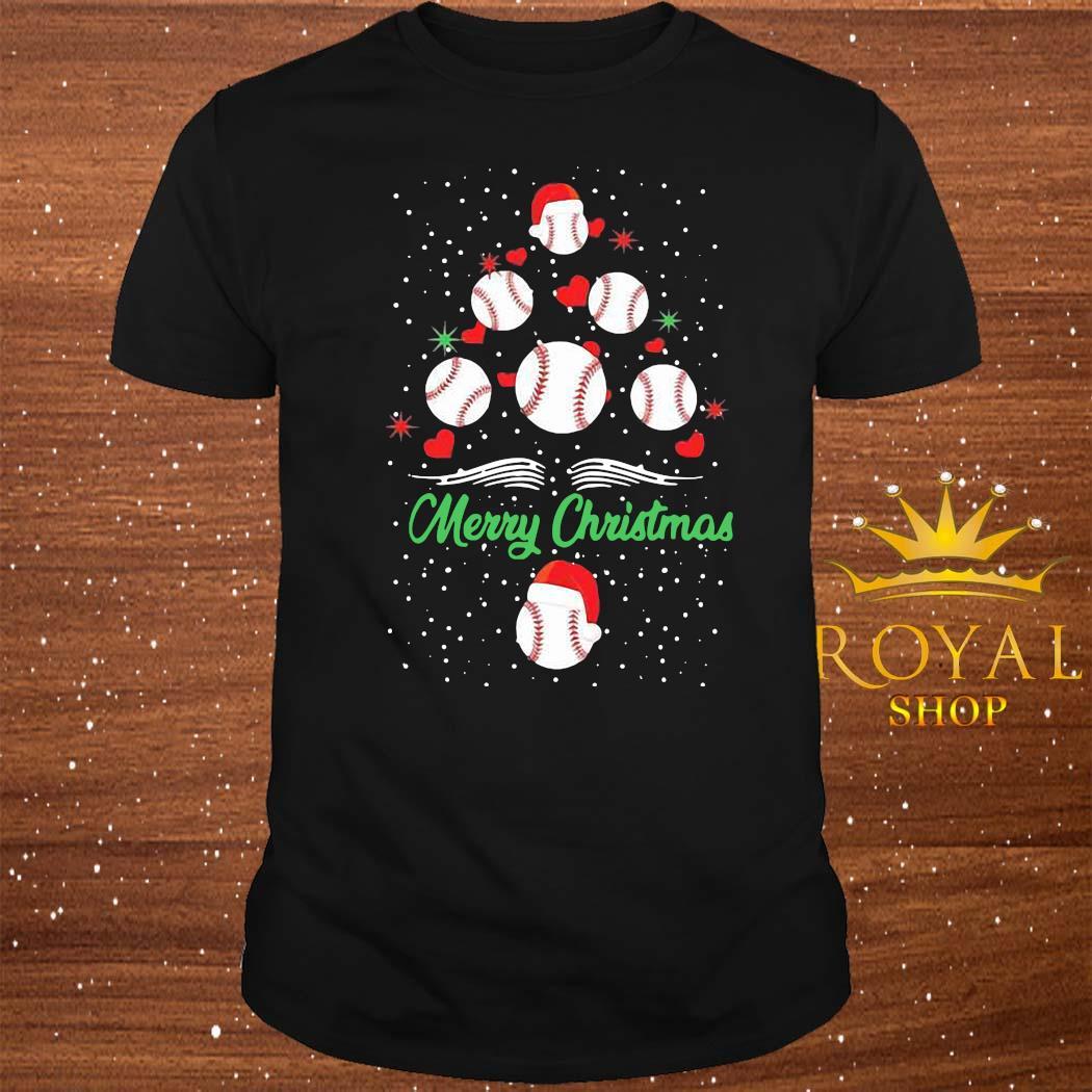 Baseball Christmas Tree Shirt