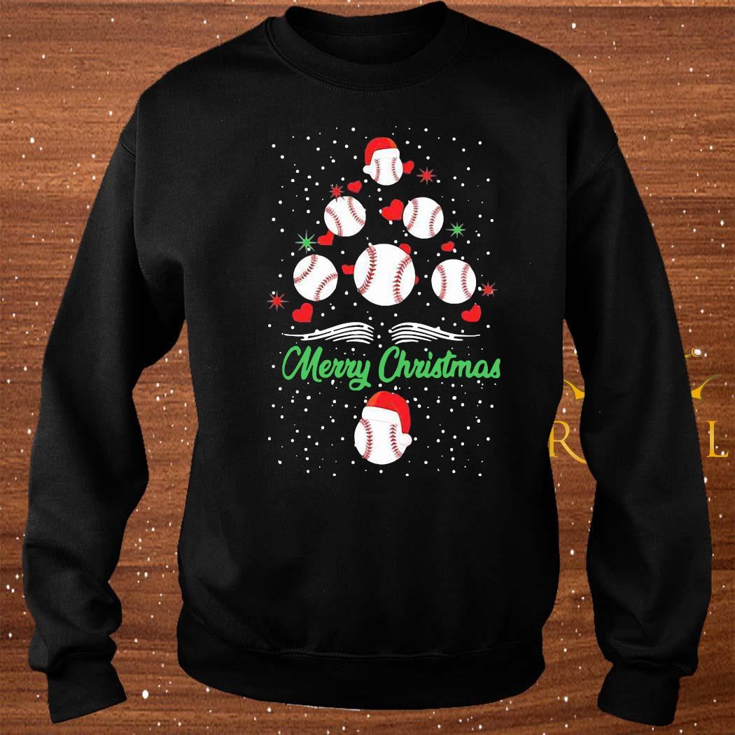 Baseball Christmas Tree Shirt sweater