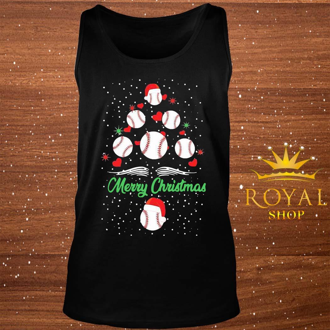 Baseball Christmas Tree Shirt tank-top
