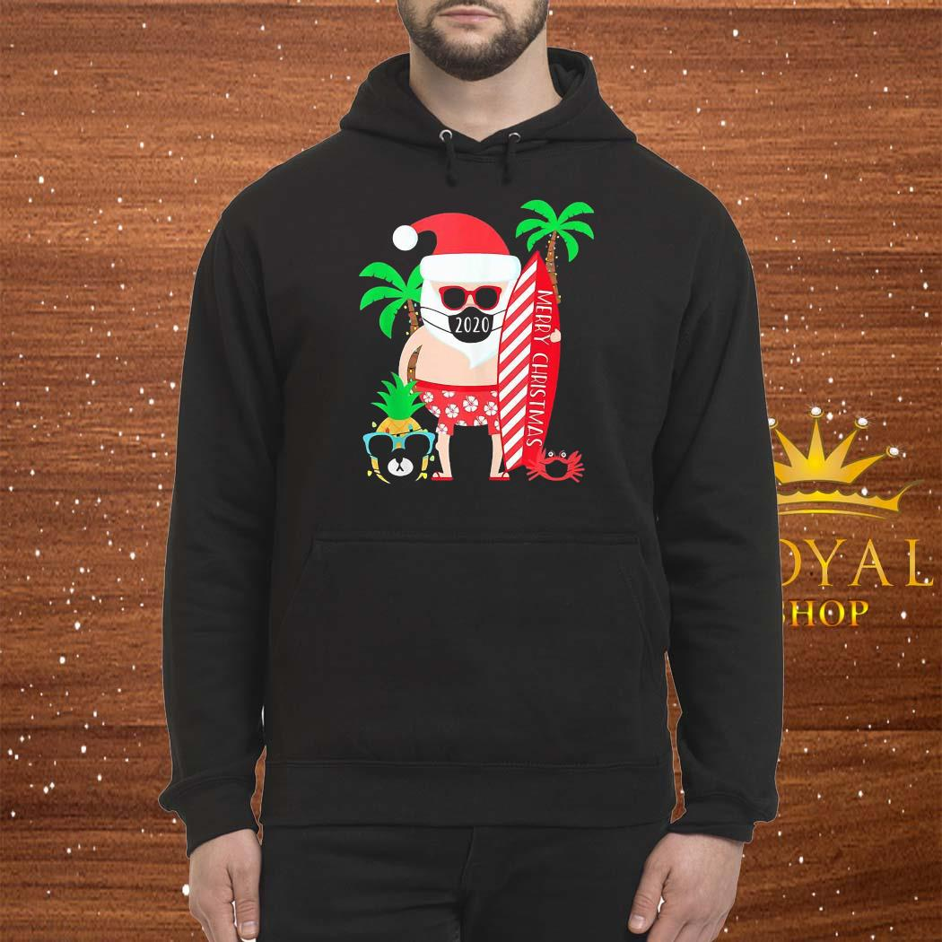 Christmas Surfing Santa With Mask Shirt Hoodie
