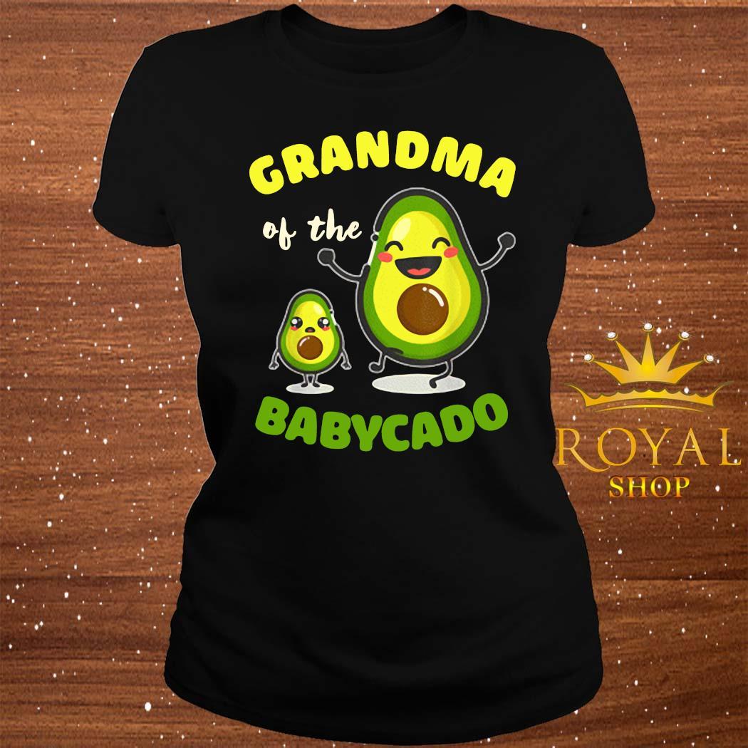 Grandma Of The Babycado Avocado Family Matching Shirt ladies-tee