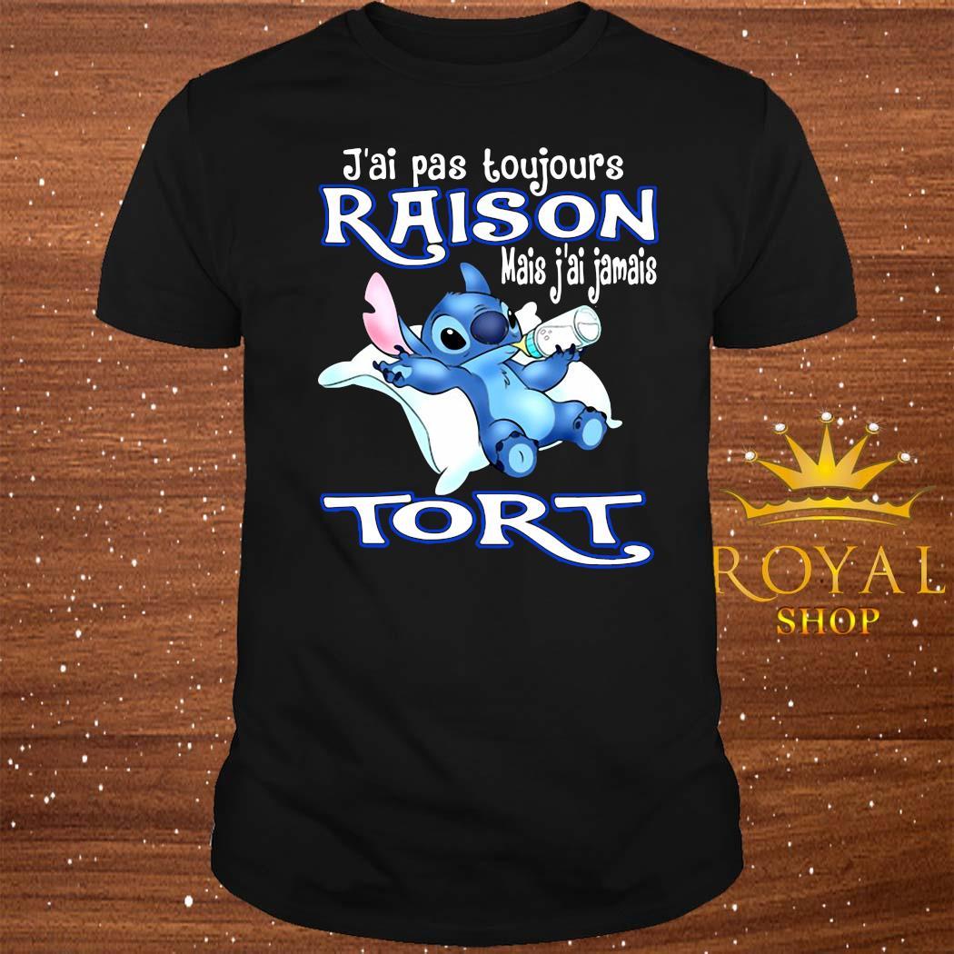 J'ai Pas Toujours Raison Mais J'ai Jamais Tort Stitch Shirt