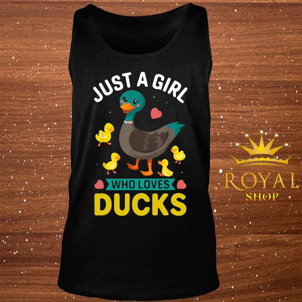 Just A Girl Who Loves Ducks Cute Duck Owner Shirt tank-top